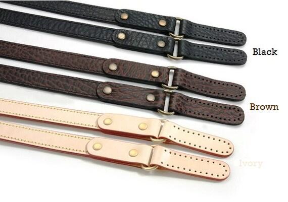 40-5815-BR 22.8 byhands Genuine Leather Narrow Style Brown Shoulder Bag Handles