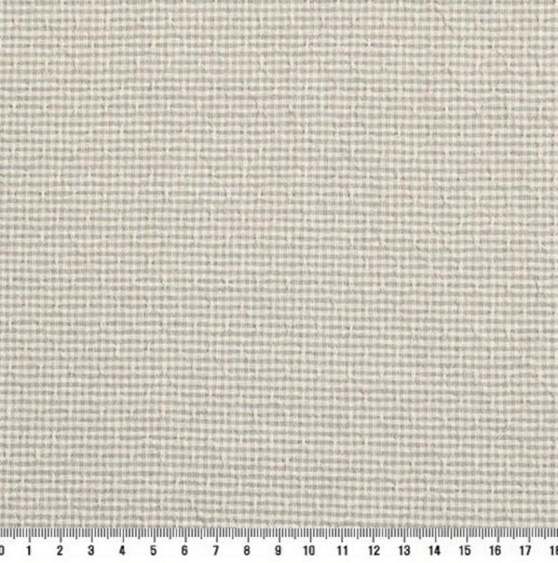 byhands 100/% Cotton Yarn Dyed Fabric Royal Dobby Check Patern EY20086-N Ash Green