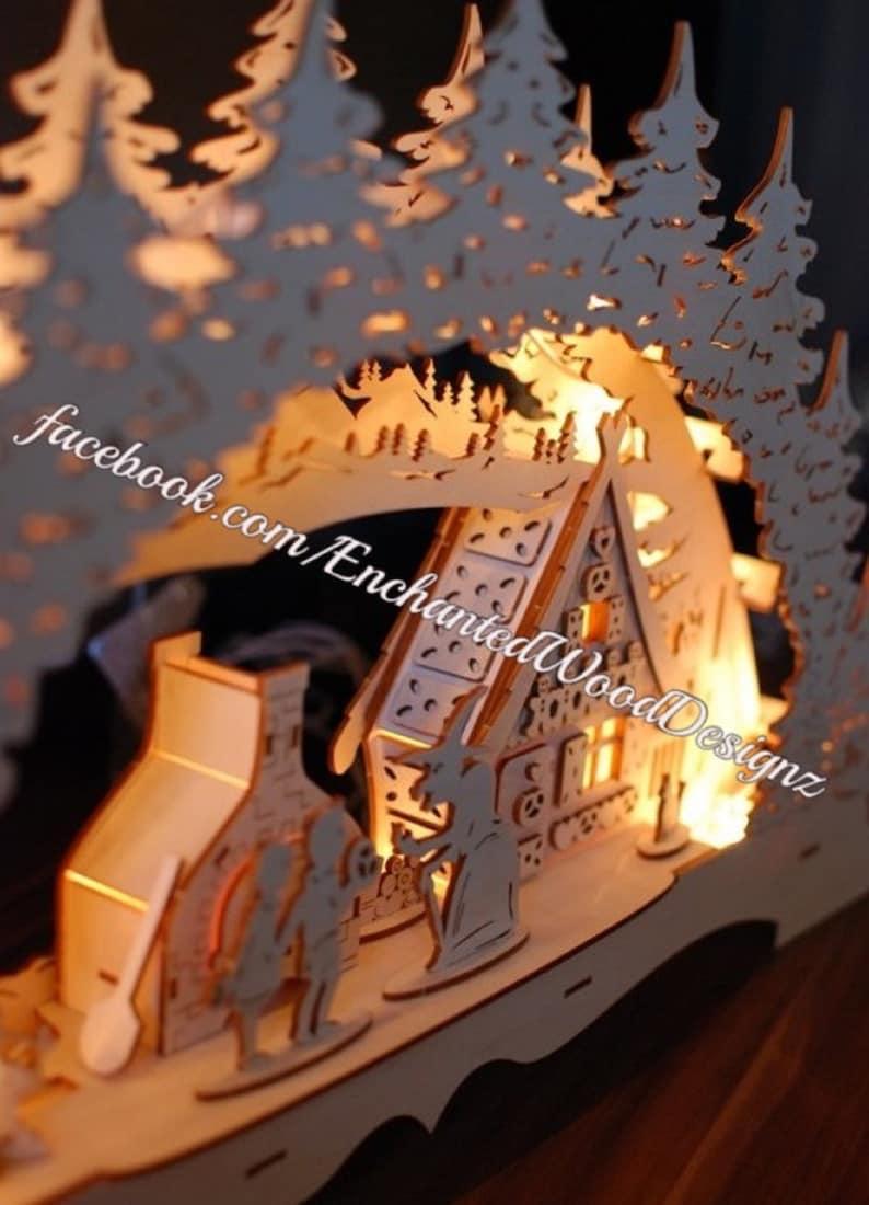 3D Candle Arch \u201cHansel /& Gretel\u201d  SchwibbogenArch lamp Christmas Decor