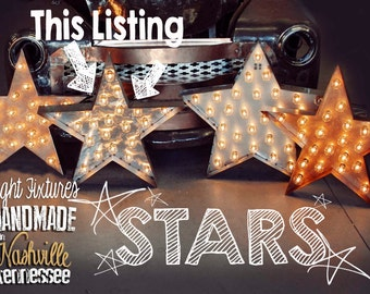 Marquee Star, Marquee Letter, Lighted Metal MARQUEE SIGN Marquee Light Fixture: Silver Brushed Metal Star