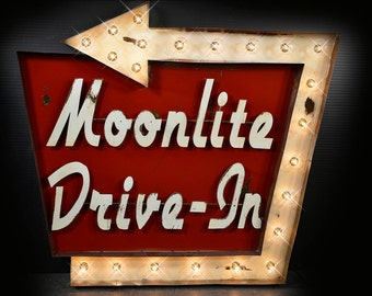 Motel Marquee, Customizable Vintage Style Marquee Motel Sign, Vintage Marquee, Marquee Fixture: Marquee Lighted Customizable Sign