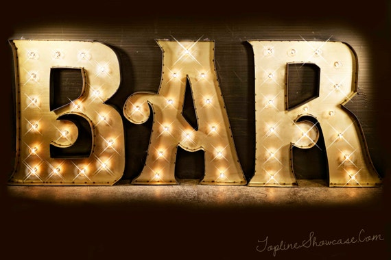 Bar marquee signs marquee letters marquee lights vintage etsy image 0 aloadofball Image collections