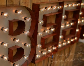 Craft Beer Marquee Letter Package, Lighted MARQUEE SIGN package, Marquee Light, Marquee Letter, Marquee Letter, Old Block Font