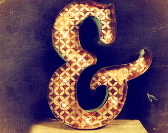 Marquee Letter Ampersand, marquee light, carnival letter, wedding sign, Lighted MARQUEE SIGN: Vintage Venetian Ampersand