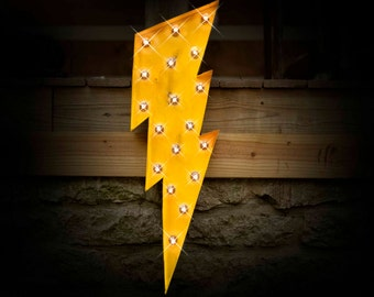 Marquee Lightning Bolt, Marquee sign, Lighted MARQUEE SIGN, Marquee Light, Marquee Letter: Marquee Sign Lightning Bolt