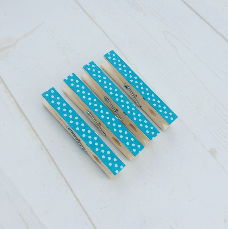 Turquoise Fridge Peg Magnets Magnetic Note Holders Decorative Clip Magnets Pack of 4 Plastic Free.