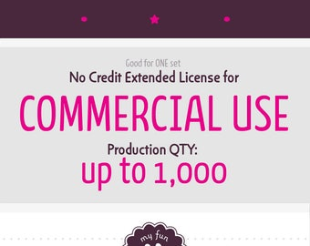 Extended License for Commercial Use of One Clip Art Set for up to 1,000 Copies