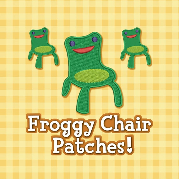 Froggy Chair Patches Etsy