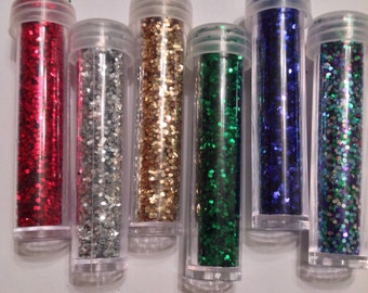Beard Glitter Custom Blended Glitter Beard Holiday and Special Occasion Replacement Vial or Extra Color UB's Beard Basics One Vial