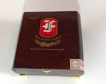 Cigar Box Jewelry Box Humidor Trinket Box Humidor Fonseca Imported Sun Grown Cedars Wood Cigar Box