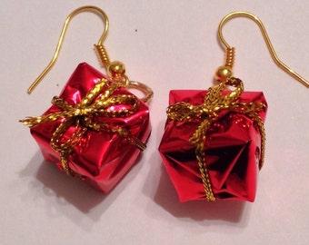 Christmas Ornament Earrings Christmas Bauble Earrings Christmas Earrings