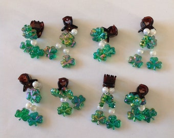 Beard Art Baubles St Patrick's Day Shamrock Irish Holiday Beard Ornaments Beard Bling