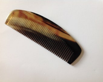 Organic Oxhorn Hand Carved Comb Z1 By UB's Beard Basics