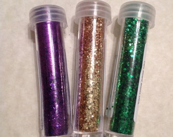Mardi Gras Glitter Beard Replacement Vials UB's Beard Basic Fat Tuesday Cake Baby Glitter Beard Beard Glitter Beard Ornaments Beard Baubles