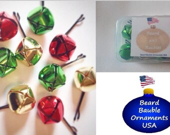 Christmas Beard Bells Beard Ornaments Beard Art Baubles Christmas Beard for Beard Season 9 pack Baubles for the Beard Baubles for the Beard