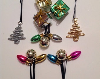 Beard Art Baubles Christmas Gift Set 14 Deluxe Hipster Set Lights Balls Gifts and Glitter Trees Ultra Mini Pins