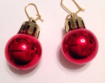 Christmas Ornament Earrings Christmas Bauble Earrings Christmas Earrings