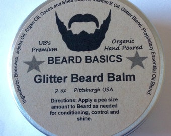Glitter Beard Balm UB's Beard Basics Beard Glitter Glitter Beard Kit Organic Beard Balm