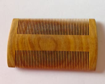 Green Sandalwood Fine Tooth Beard Comb,  Beard Basics, Beard Comb