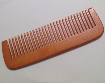 Organic Peach Wood Beard Comb UB's Beard Basics Natural Anti Static Massage