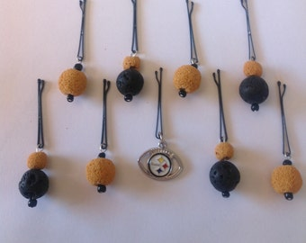 Beard Art Baubles Beard Balls Pittsburgh Steelers Football Beard Hipster Beard Season Set of 8 FTB Beard Balls