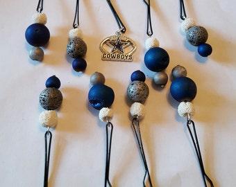 SportNaments Football Beard Bauble Ornaments Beard Art Baubles Football Dallas Cowboys