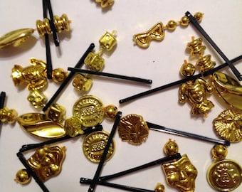 Beard Art Baubles Mardi Gras laissez les bon temps rouler Hipster Gift Set 16 Theme Beard Baubles Ultra Mini Pins