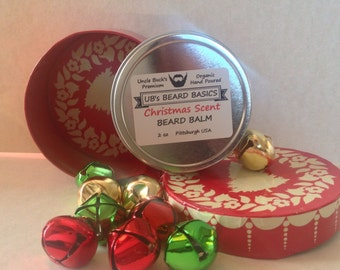 Christmas Scent Balm & Beard Bells Set UB's Beard Basics Limited Edition Seasonal Scent Stocking Baubles for the Beard Baubles for the Beard