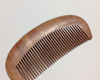 Organic Red Sandalwood Beard Comb UB's Beard Basics Antistatic Massaging Therapeutic Aromatic Sturdy Durable Comb