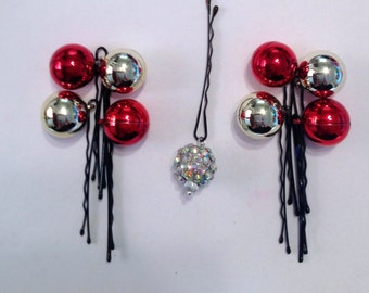 Beard Art Baubles New Year's Eve Hipster Gift Set of 9 Baubles