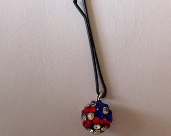 Beard Art Baubles Fourth of July Beard Bead Accent Bauble USA Flag