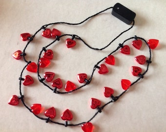 Valentine's Day Red Beard Lights Flashing light up light strand Beard Art Baubles for the Beard Baubles for the Beard Beard Ornaments