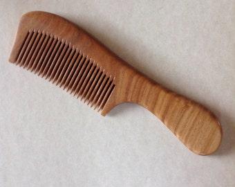 UB's Beard Basics Green Sandalwood Beard Comb Hair Comb Organic Antistatic Massaging Therapeutic Aromatic Sturdy Durable Comb