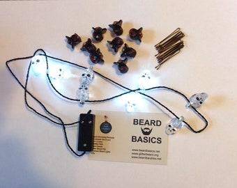 BeardNaments Halloween Nano Beard Lights Beard Basics Fairy Beard Lights Skull Beard Lights Beard Baubles Ornaments