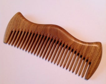 Green Sandalwood Beard Comb By Beard Basics Hair Comb Beard Comb Organic Antistatic Massaging Therapeutic Aromatic Sturdy Durable Comb