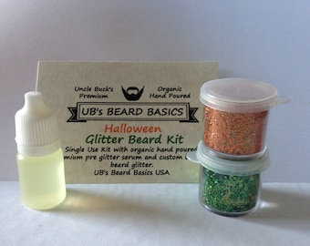 Halloween Beard Glitter Beard Kit Single  UB's Beard Basics Glitter Beard Beard Glitter Beard Ornaments Beard Baubles