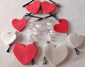 Beard Art Baubles Valentine's Day Heart Hipster Handmade Hearts and Cupids