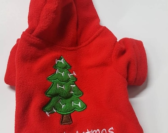 PetNaments Ugly Christmas Sweater Hoodie Embroidered Fleece Pet Sweater