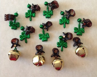 Beard On A Budget St Patrick's Day Beard Art Baubles Shamrock Beard Ornaments Beard Bling Irish Beard Beard Bells