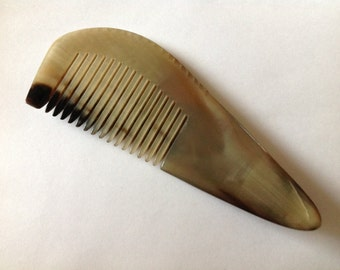 Organic Oxhorn Comb Fine Tooth X11F Beard Comb Hair Comb Unique Pattern By Beard Basics