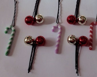 Beard Art Baubles Christmas Beard for Beard Season Hipster Set 11 Candy Canes Baubles Beard