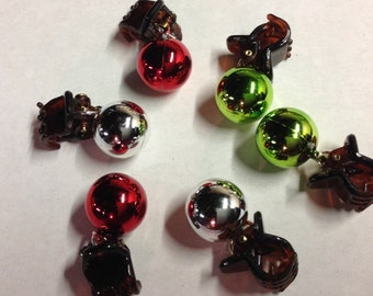 SALE Beard Art Baubles Christmas Classic Hipster Gift 6 Pack Clip 15mm Durable Baubles for the Beard Baubles for the Beard Bauble Ornaments