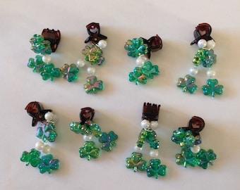 Beard Art Baubles St Patrick's Day Shamrock Irish Holiday Beard Ornaments Beard Bling
