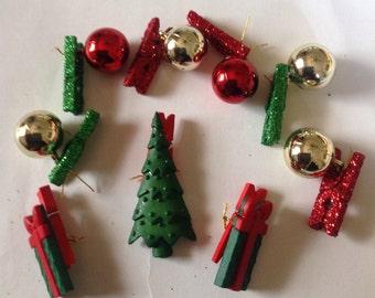 Beard Art Baubles Christmas Beard for Beard Season Gift Pack of 9 I Ornaments