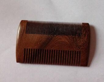 Black Sandalwood Wide Tooth Fine Tooth Beard Comb Beard Basics