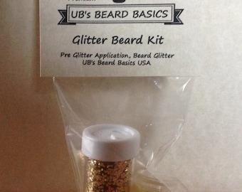 Extra Large Glitter Beard Kit Beard Glitter Beard Season Christmas Beard Ugly Sweater