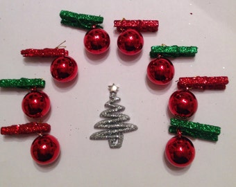 Beard Art Baubles Christmas Beard Hipster Beard Season Set of 9 SIl Beard Ornaments