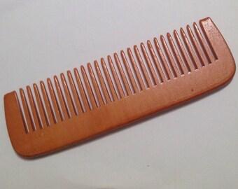Organic Peach Wood Beard Comb UB's Beard Basics Natural Anti Static Massage