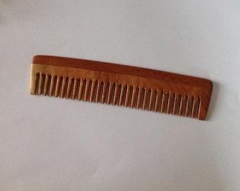 Neem Wood Wide Tooth Beard Comb Beard Basics Natural Aromatic Anti Static Massage