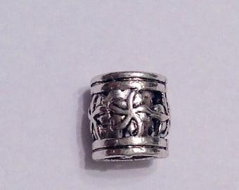 Beard Art Baubles 1 Large Hole Beard Bead Tibetan Antiqued Silver Filigree
